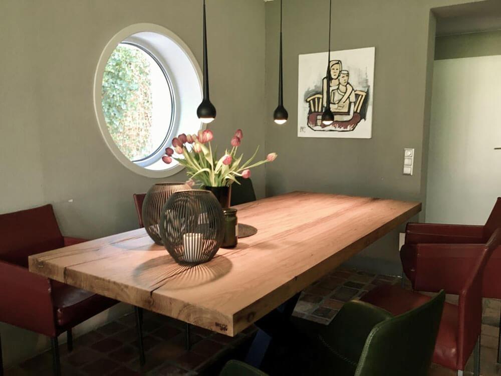 Esstisch Massivholz | Esszimmer Tisch | Naturholz Eiche