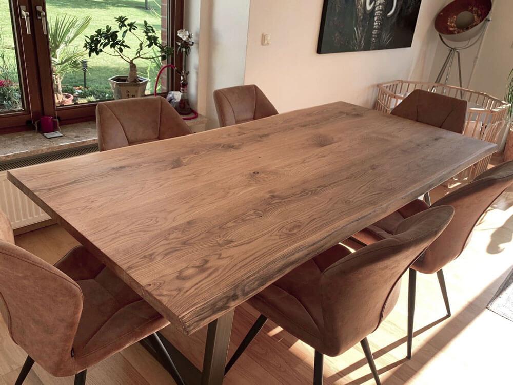 Massivholz Esstisch | Naturholz Tischplatte | massiver Esszimmertisch