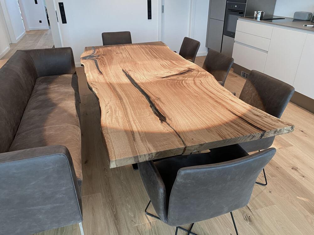unikater Esstisch | Massivholztische | Esszimmertisch aus einem Stück