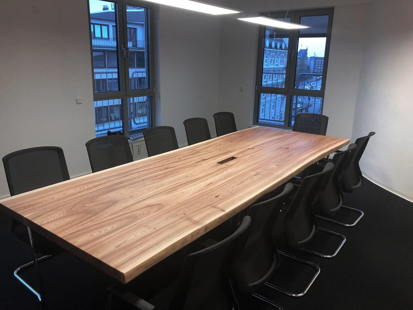 Massivholz Konferenztisch | Meetingtisch | Besprechungstisch