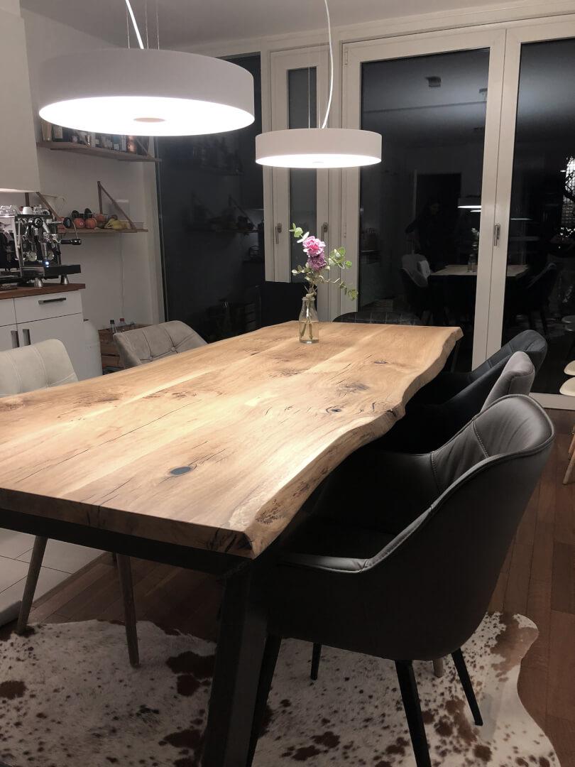 Baumtisch Eiche | Massivholzplatte | Massivholz Tischplatte