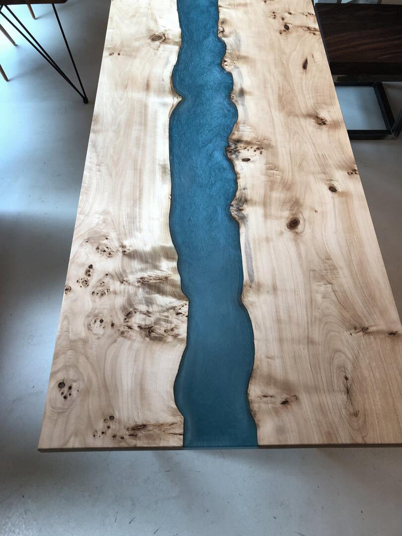 Charaktertisch | Flusstisch | River Table, Echtholz