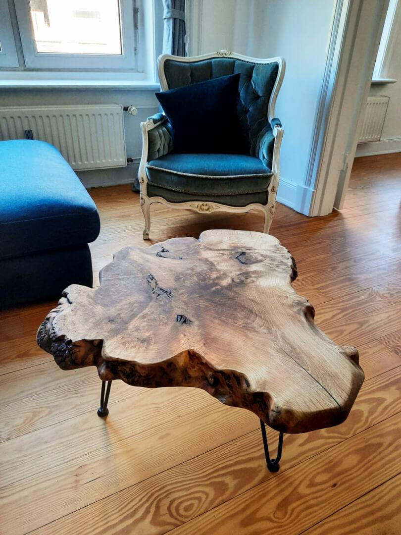 Couchtisch Naturholz | Couch Tisch Custom | Designer Couchtisch | Beistelltisch massiv