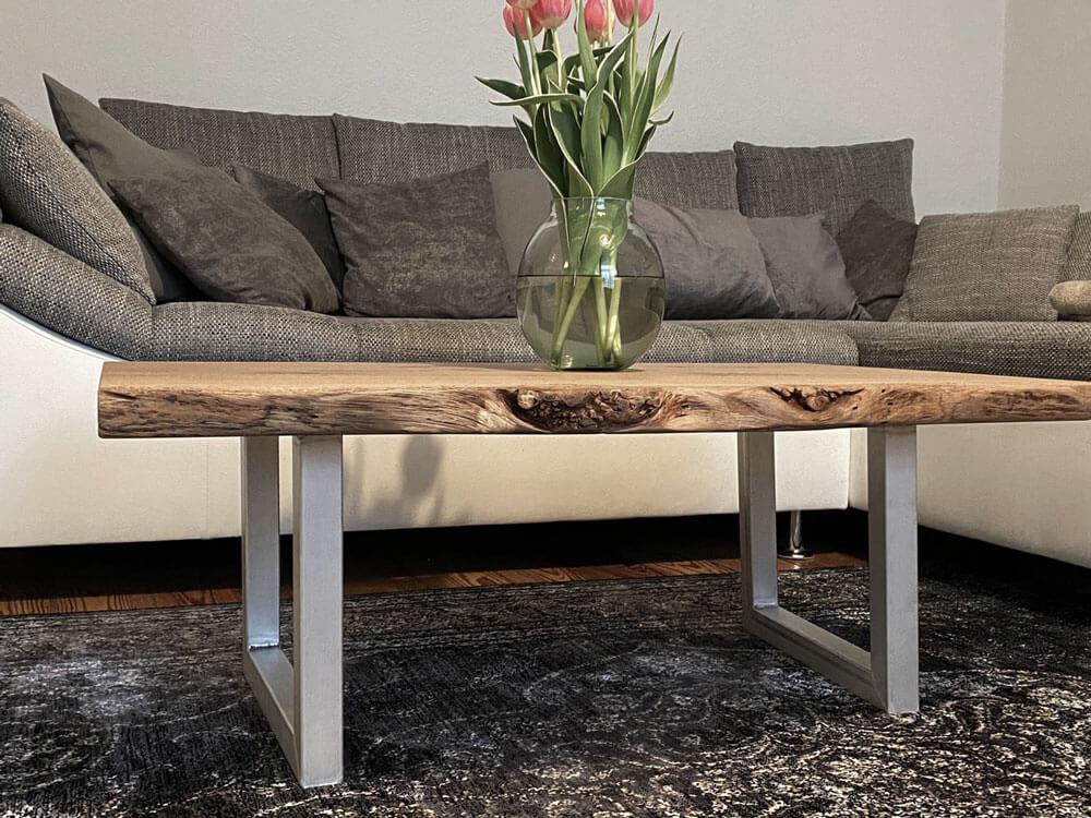 Couchtisch aus Naturholz | Massivholz Couch Tische