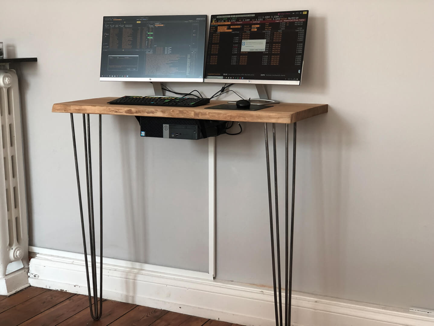 Bürotisch | Eichenplatte rustikal | Eichenholztisch