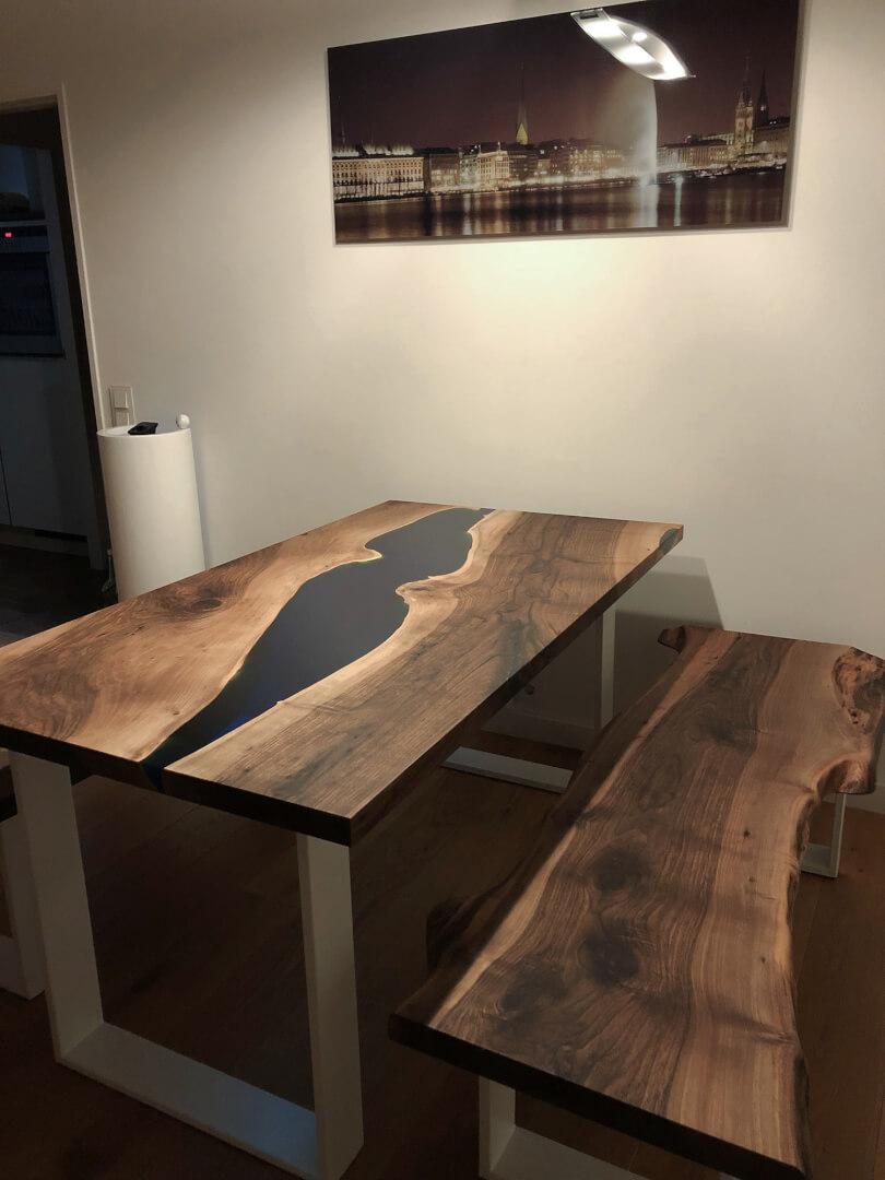 River Tisch | Massivholz | Custom | Holztisch