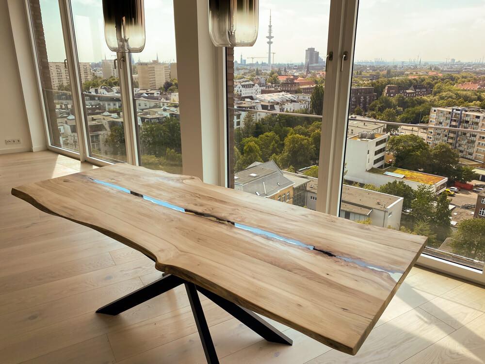 Esstisch aus Massivholz | Esstisch Echtholz | Custom Esszimmertisch
