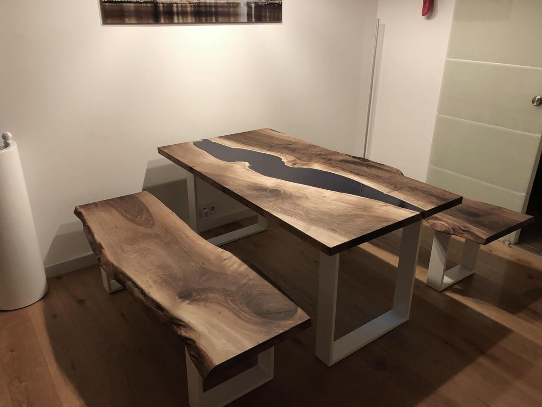 Rivertable | Flusstisch | Tischgruppe | Naturholz