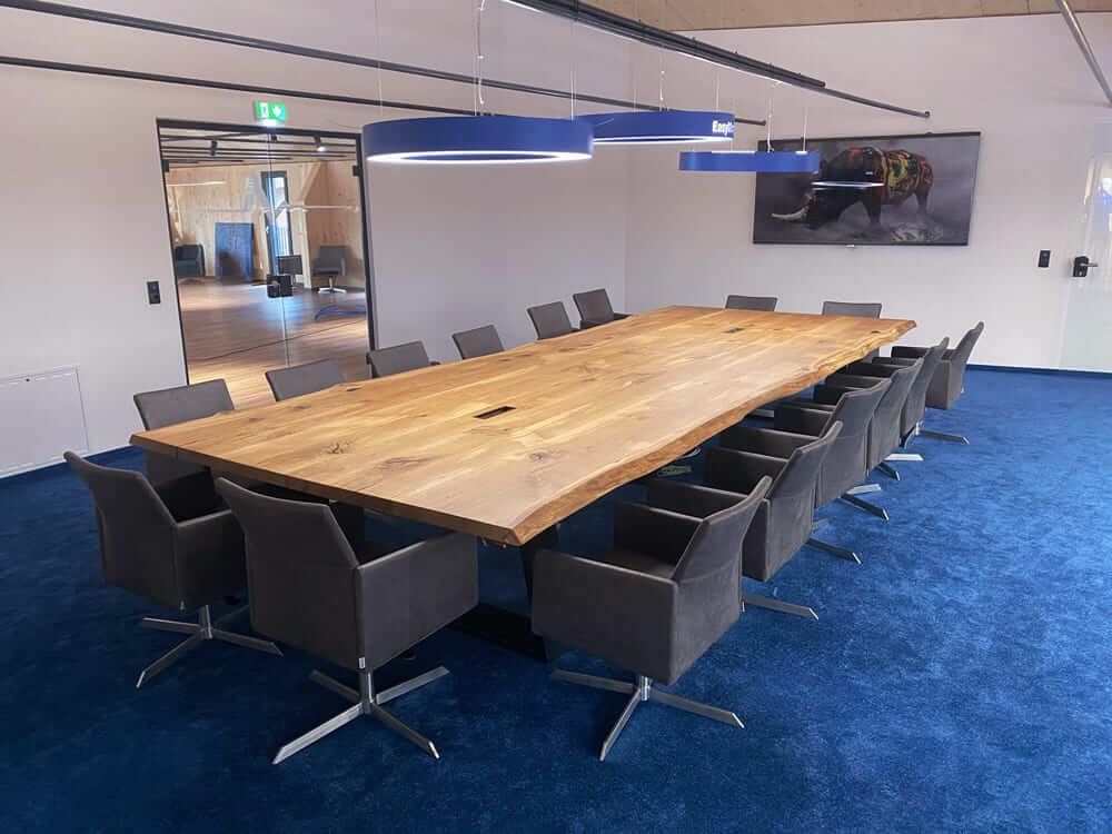 Konferenztisch groß | Massivholz Konferenztische | Meeting Tisch für Besprechungsraum
