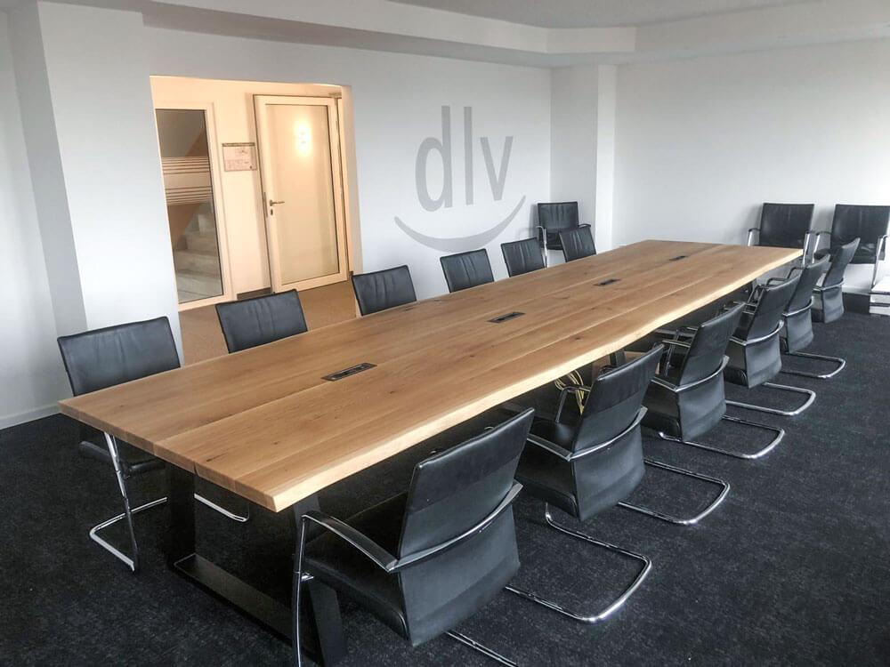 Konferenztisch groß | Konferenztisch Eichenholz | Meeting Besprechungstisch | Massivholz | Hamburg