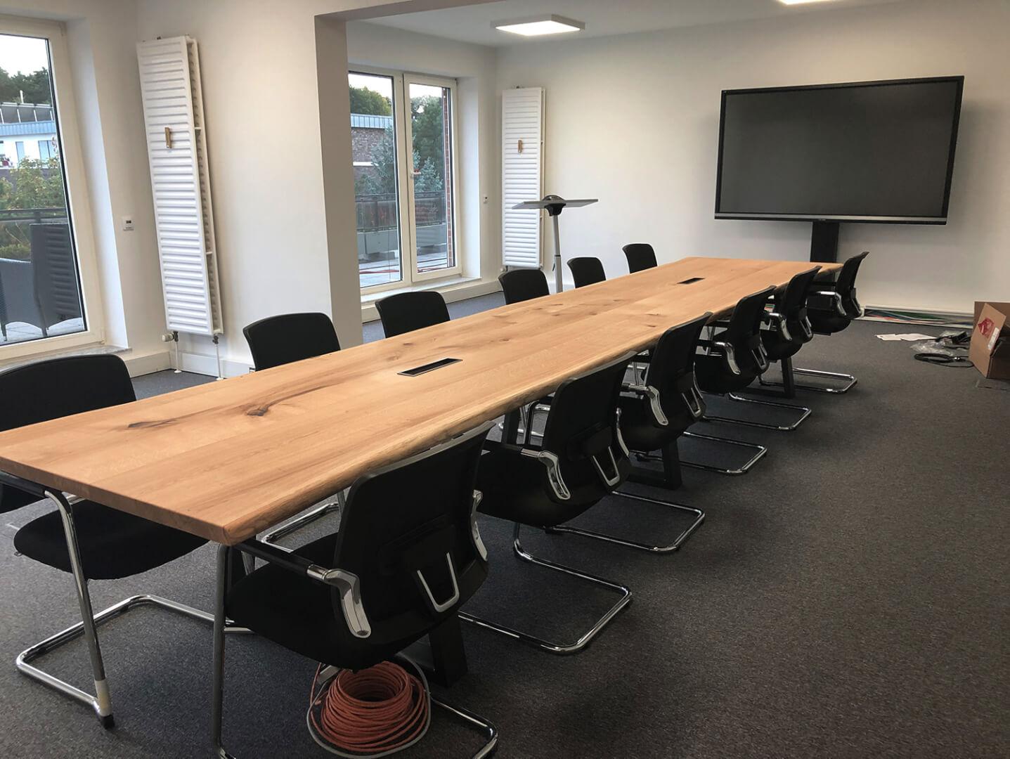 Konferenztisch Massivholz Eiche | Eichenholz Konferenztisch