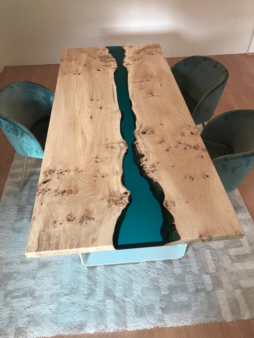 Epoxidharz Tisch Epoxy River Table Bauanleitung zum