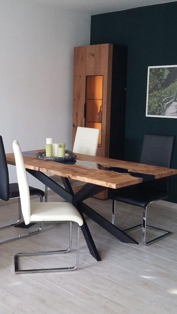 River Table | Designer Tisch | farbiger Designtisch