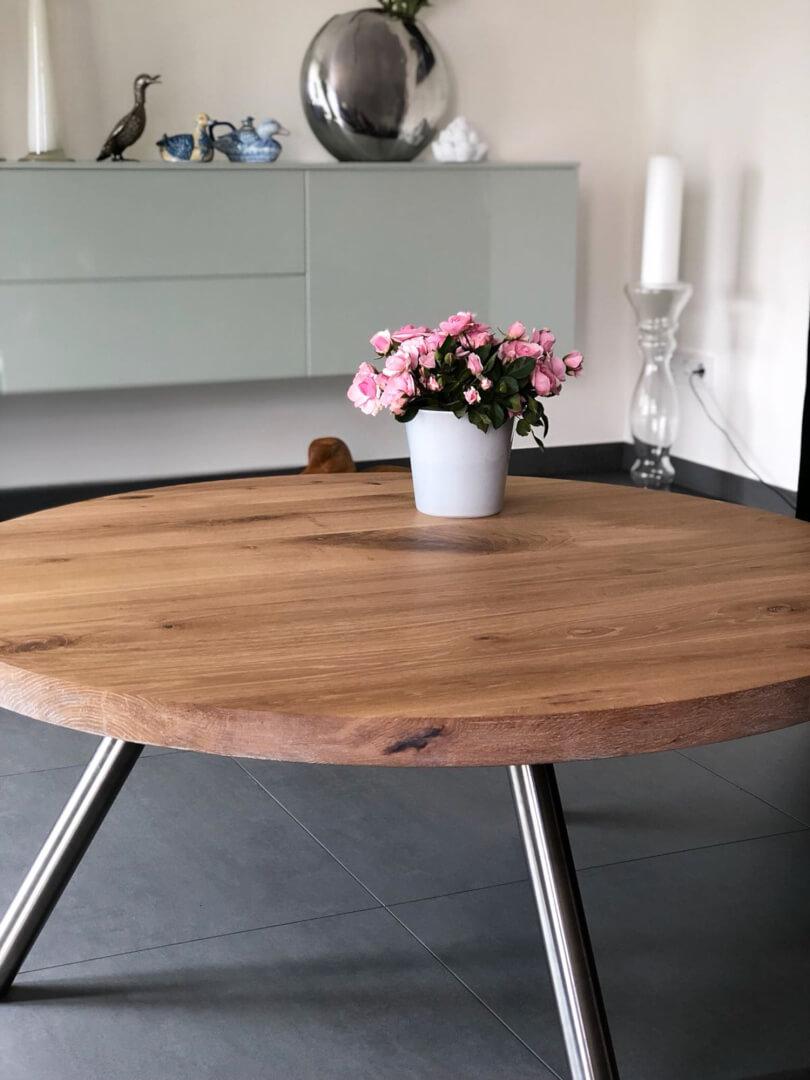 Runder Tisch | Massivholz | Massivholztisch | aus Holzwerk