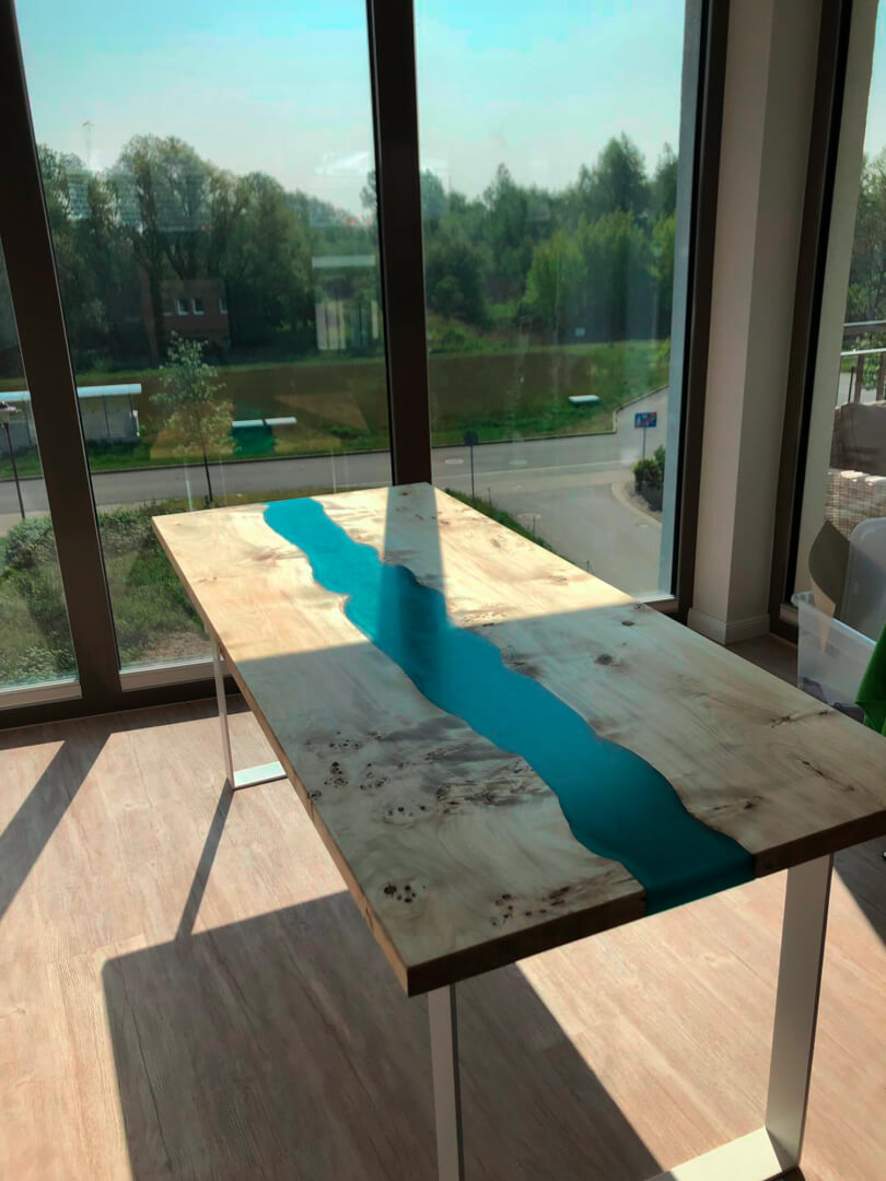 Altholz Tisch | River Table | Eiche Altholz Epoxy