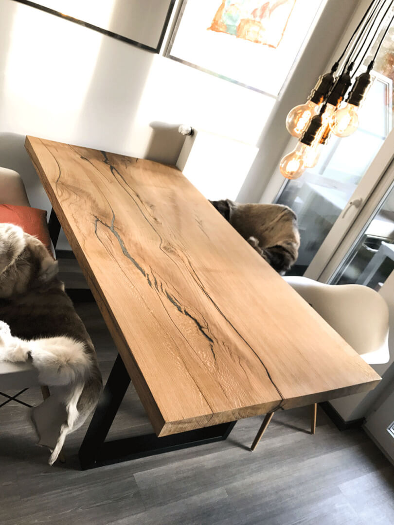 Unikat Massivholztisch | unikater Holztisch | Naturholztisch | Naturholz massiv