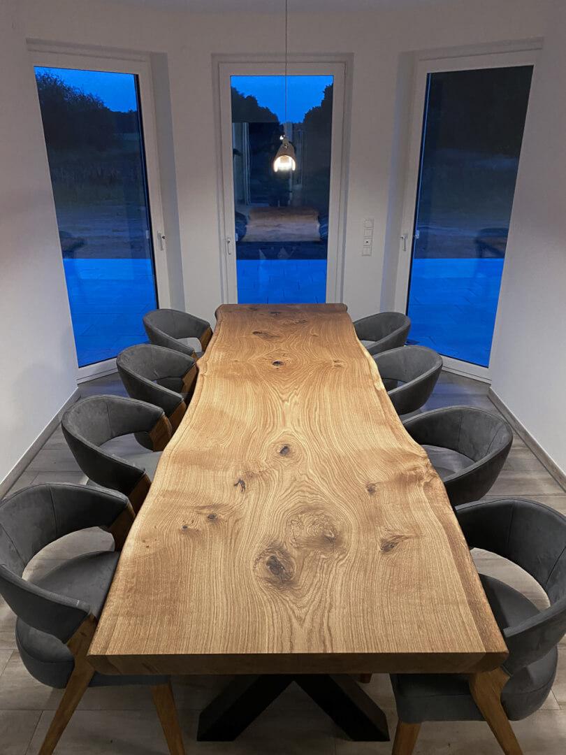 Unikate Designtische | Naturholz Tisch | langer Tisch | massive Tischplatte
