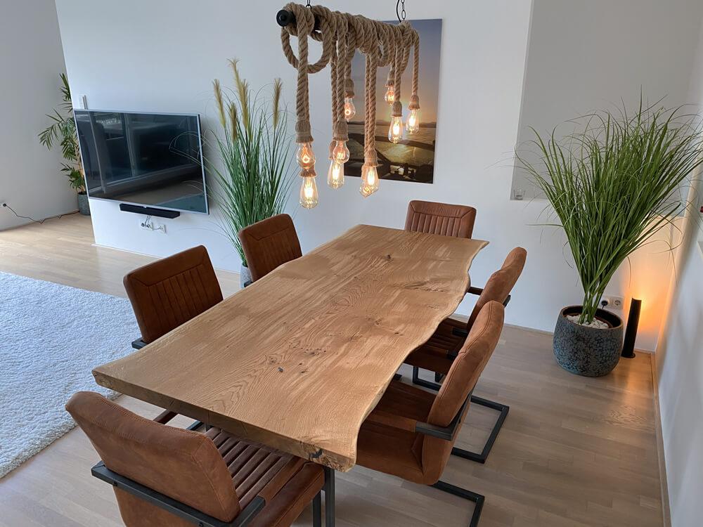 Wohnzimmer Tisch Unikat | individueller Design TIsch | massives Holz | Tischplatte nach Maß