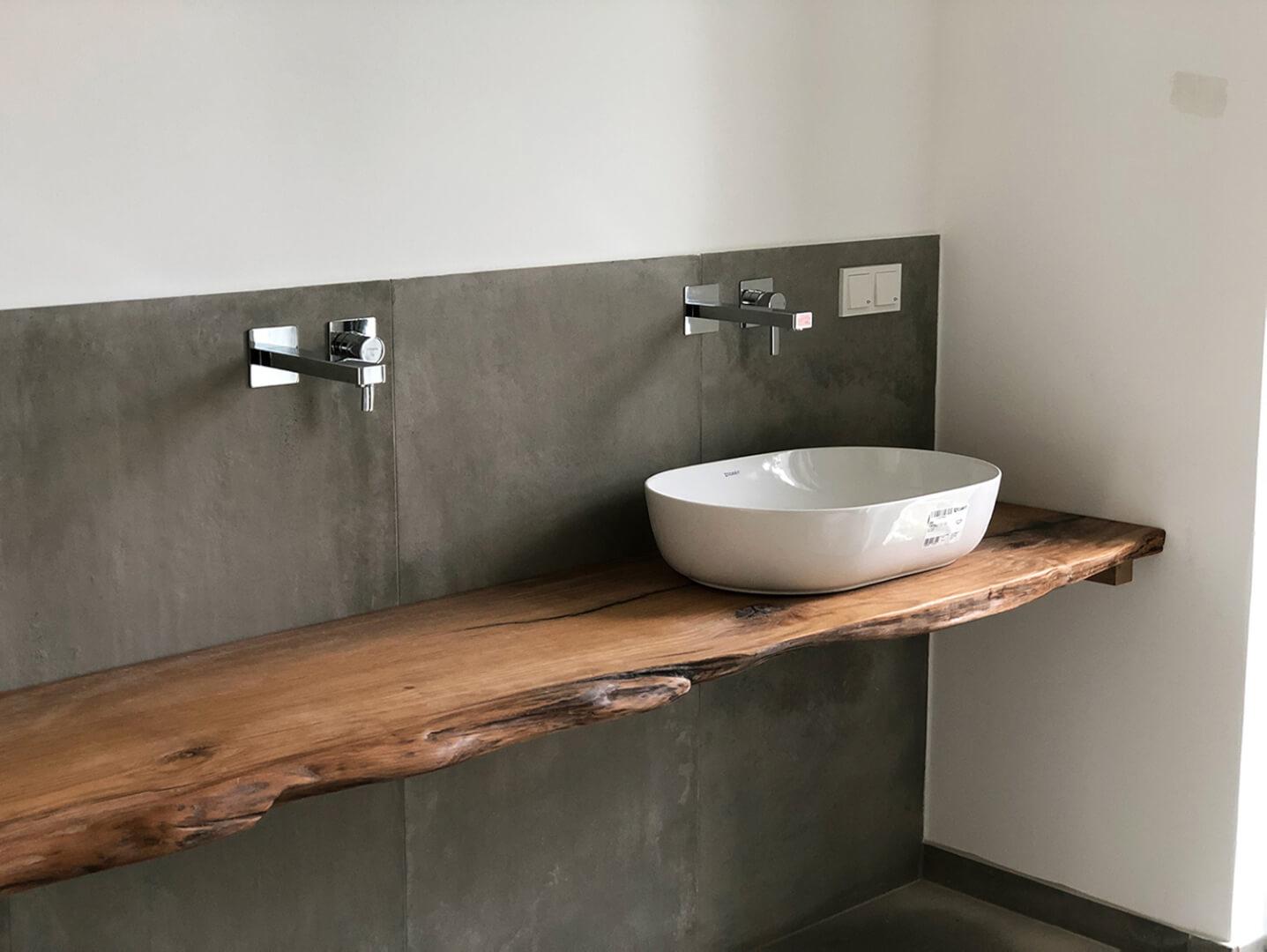 Waschtisch | mit Waschbecken | Waschtisch Naturholz