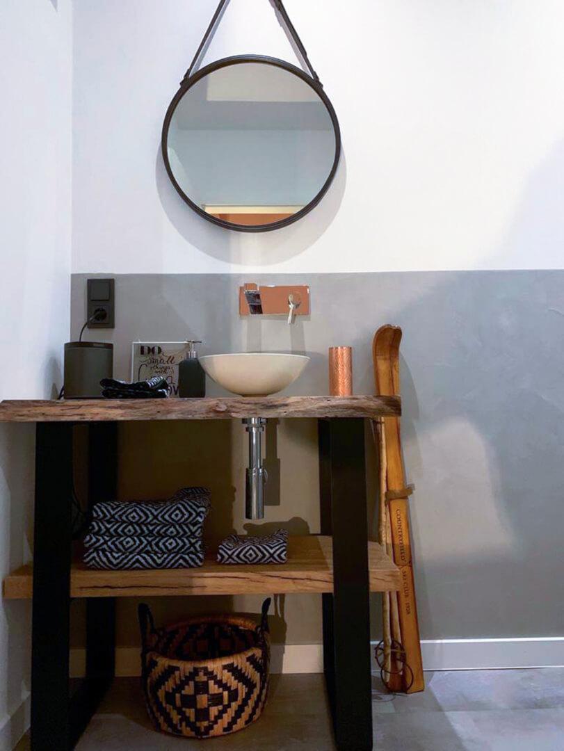 Waschtisch Kommode | Eiche rustikal | Eichenholz