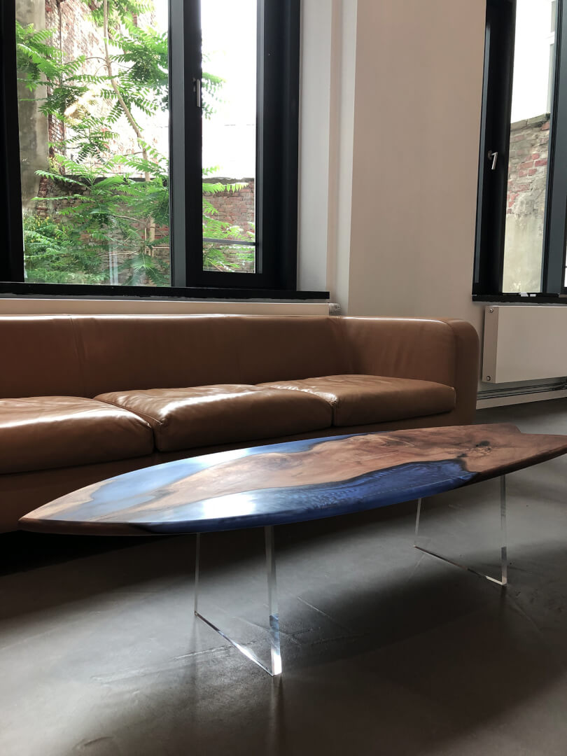 Wohnzimmer Tisch | Epoxy oval | Wohnzimmertisch