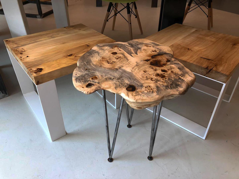 Wurzelholz | Eichenholz | Baumscheibe Tisch