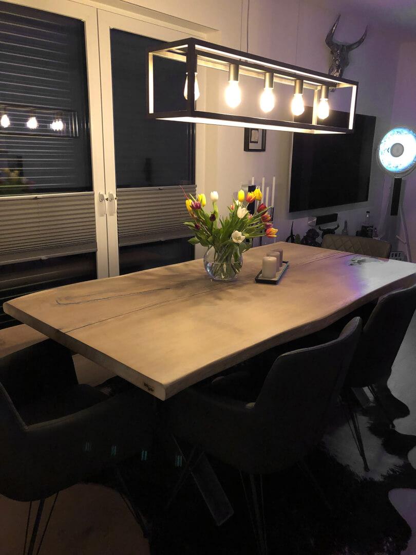 Ausziehbarer Tisch | Unikat | Holztisch | Massivholz