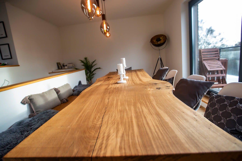 Unikattisch Eichenholz lang | langer Holztisch Eiche | Massivholztisch