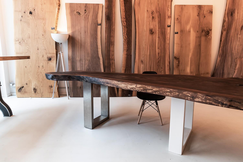 Unikattisch Nussbaum | aus dem Holzwerk | in Hamburg | Unikat Nussbaum Tisch