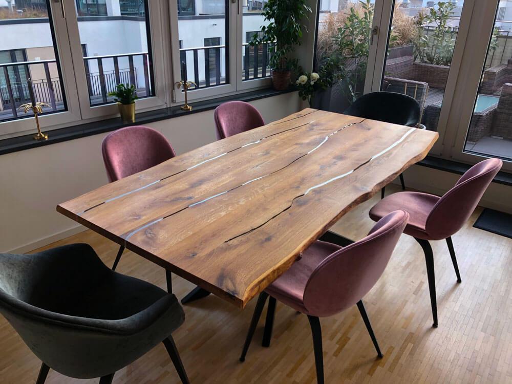 Rivertable | Flusstisch | Designtisch | Epoxidharz Tisch