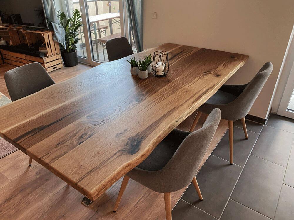 Esstisch aus Massivholz   in Hamburg   Vollholz   Designertisch